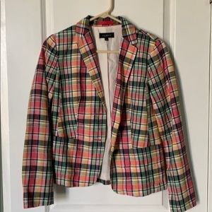 Plaid multicolor blazer